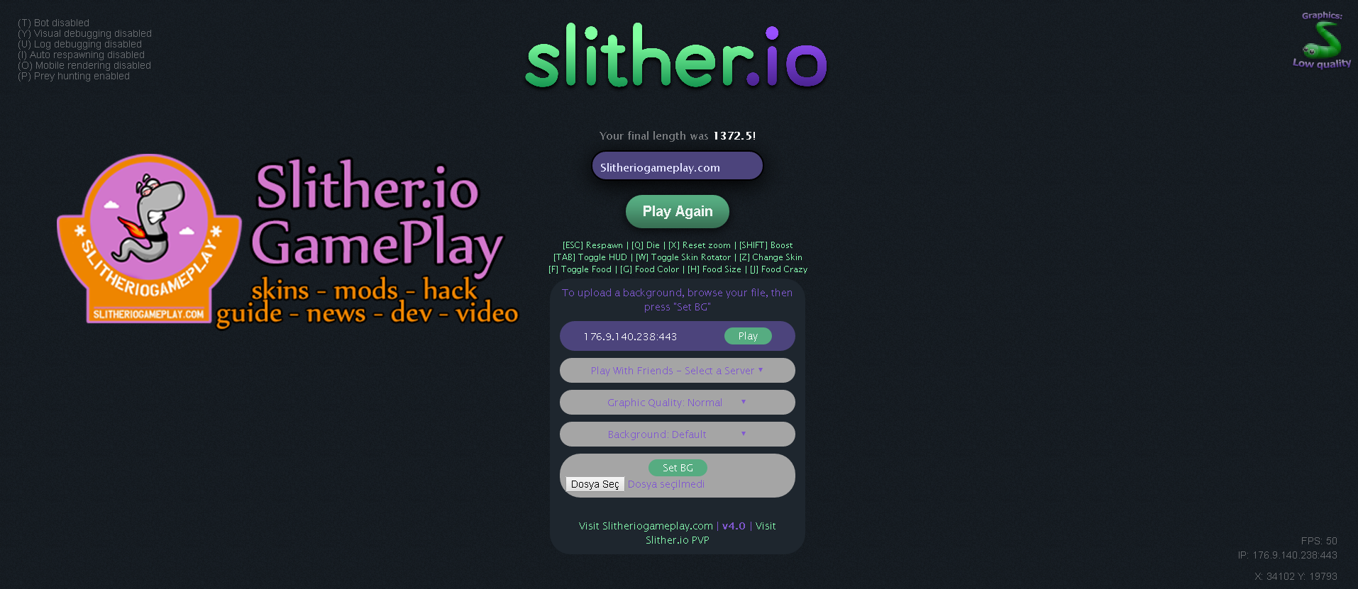 Slither io Mod & Bot Pack Download - Slither io Mods & Skin
