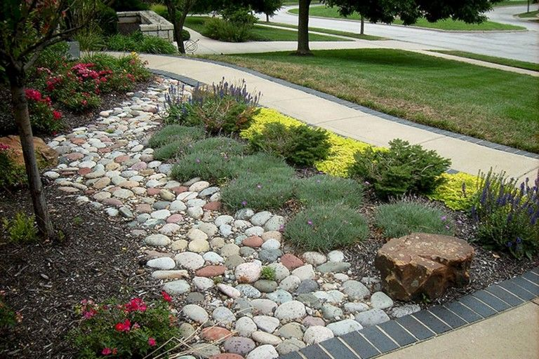 48 Lovely Front Yard Landscaping Ideas Landscapedesign Landscapingideas Landscapingwithr Landscaping With Rocks Backyard Landscaping Front Yard Landscaping