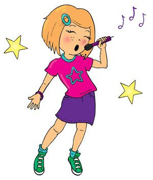 cartoon girl singing in microphone singing girl stamp by laura rh pinterest com cartoon picture girl singing Cute Cartoon Girl Singing