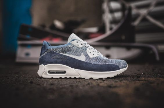 new products d64e7 e7ff0 The New Nike Air Max 90 Ultra Flyknit 2.0 Is Draped In Ocean Fog