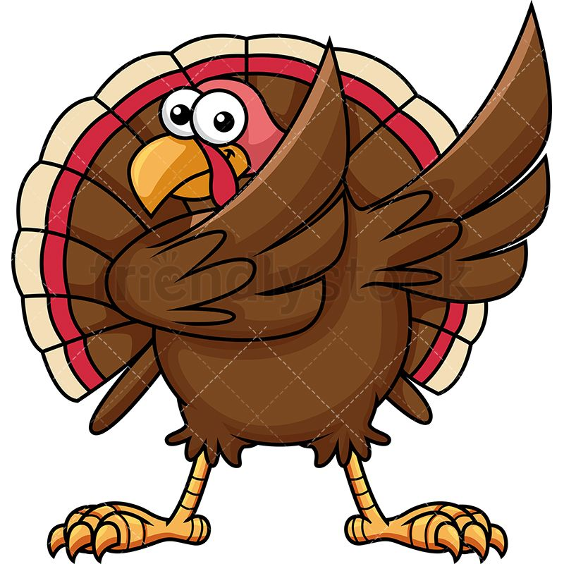 dabbing turkey cartoon vector clipart turkey bird vector vector rh pinterest co uk animated dancing turkey clipart download dancing turkey clipart