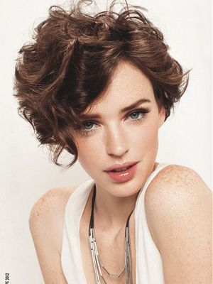 Short Hairstyles Curly For Round Faces