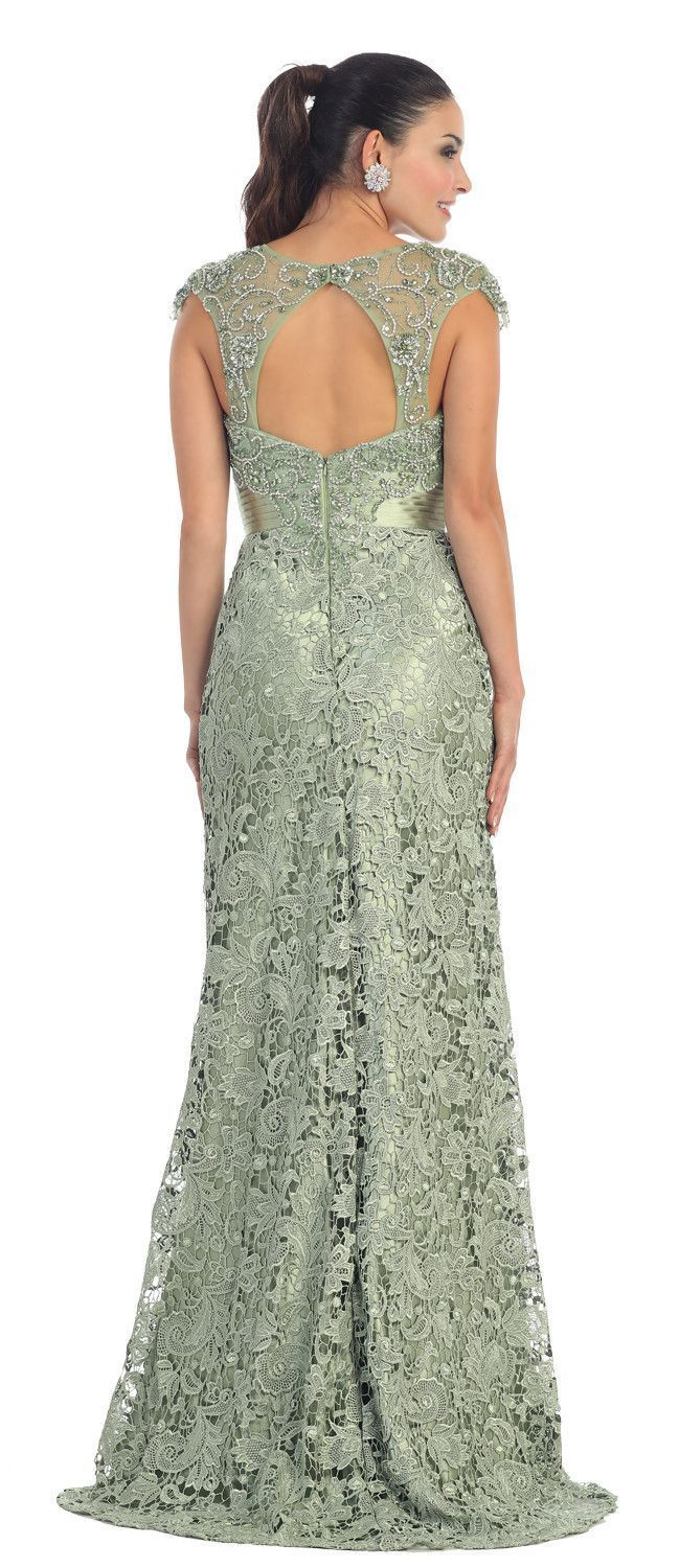 Long lace mother of the bride dress in formal dresses