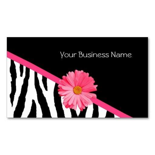 Zebra pattern pink daisy business cards make your own business card zebra pattern pink daisy business cards make your own business card with this great design wajeb Images