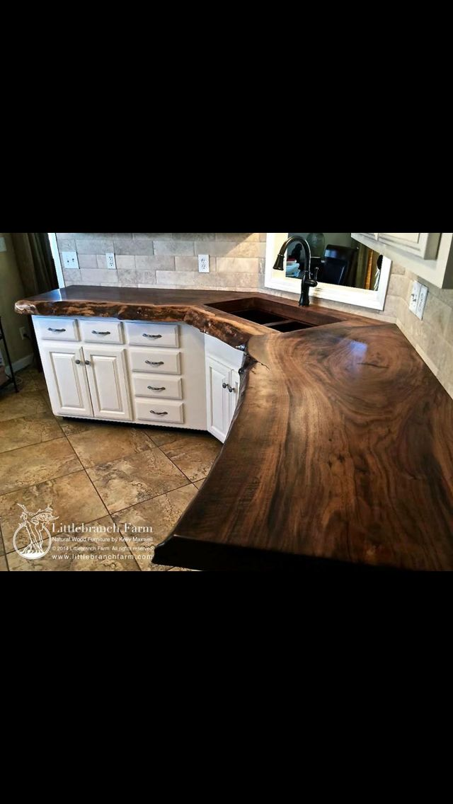 Natural Wood Countertops Live Edge