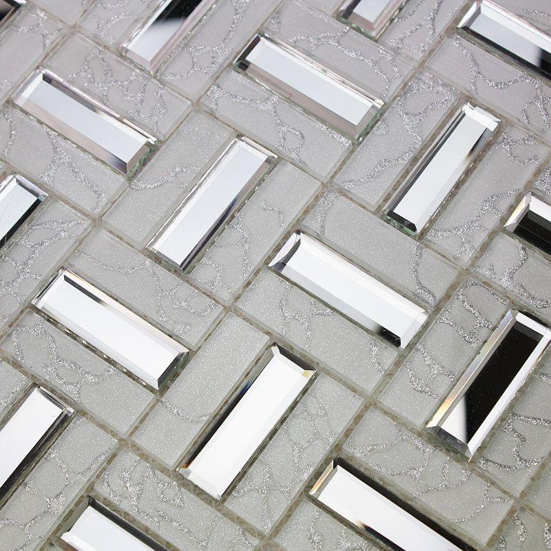 Crystal glass tile mosaic floor tile wholesale kitchen backsplash  iridescent tiles bathroom walls