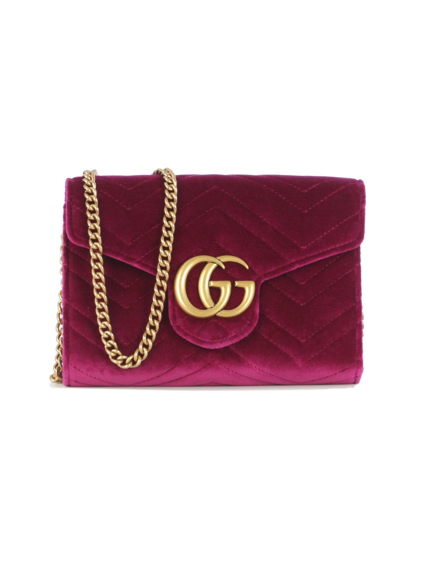 6cd6614ba20 GUCCI VELVET GG MARMONT CATENA. #gucci #bags #velvet   Gucci in 2019 ...