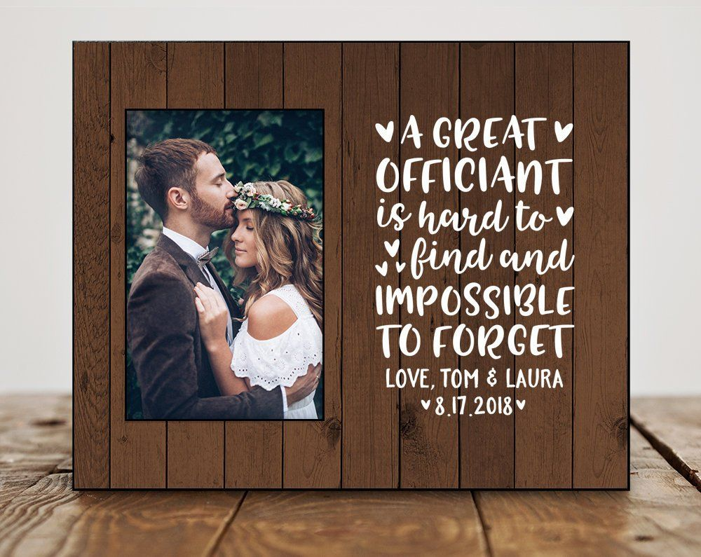 Officiant Gift Wedding Officiant Thank You Gift