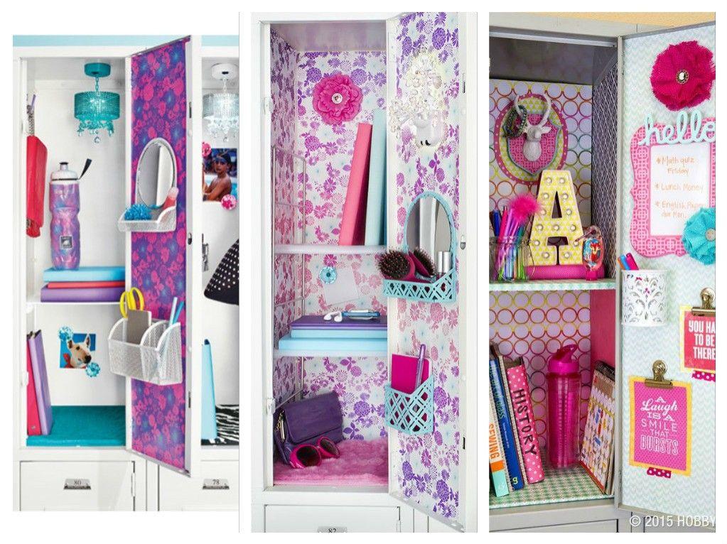 Artesanato Reciclar ~ Ideas para decorar tu locker escolar súper cute Armario escolar, Armário e Escola