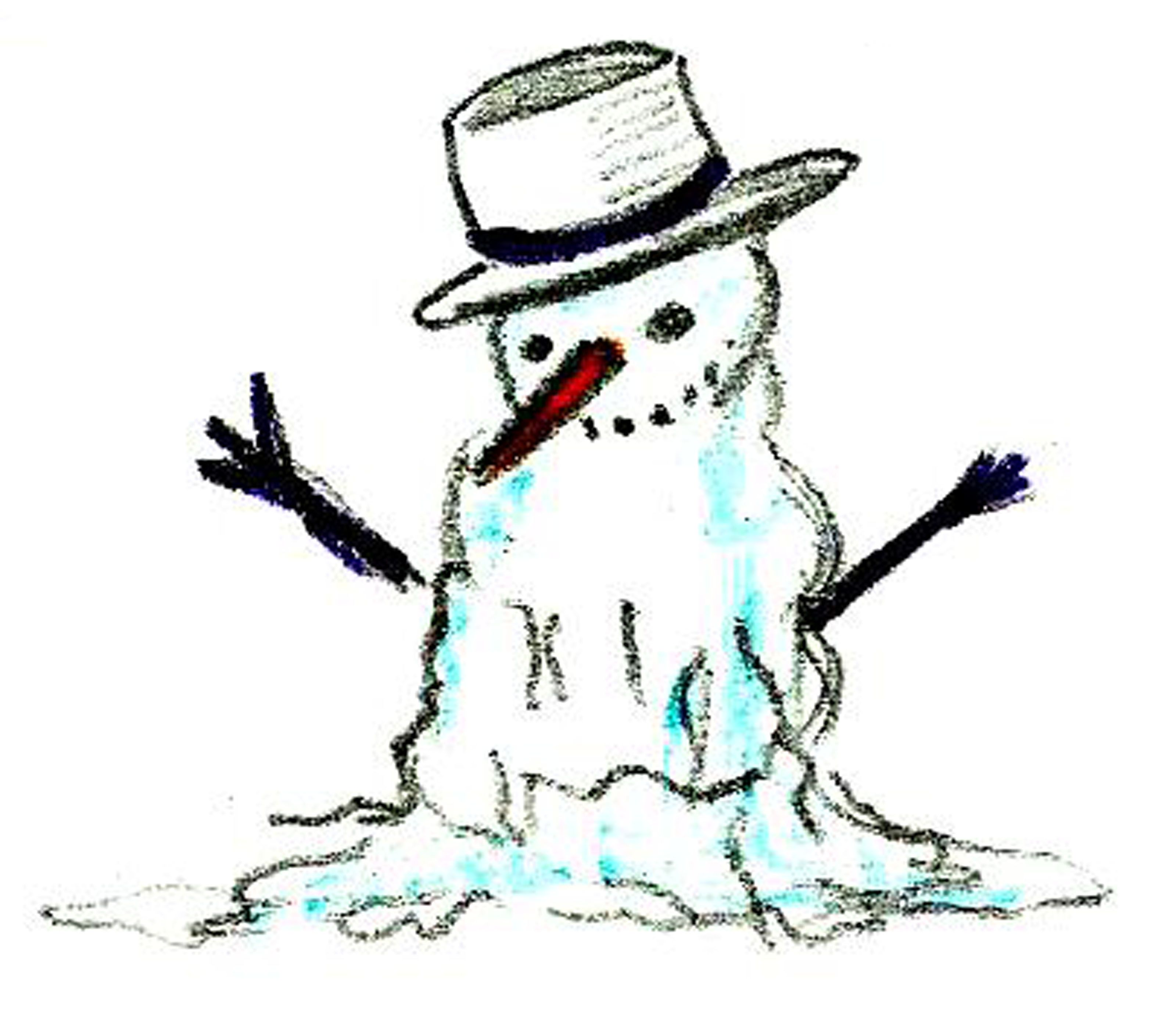 Melted snowman clipart free - ClipartFest | Crafts | Pinterest ... for Melting Snowman Clipart  76uhy