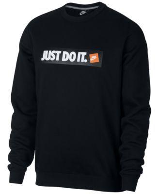 91123b1506d55 Nike Men's Sportswear Just Do It Logo Sweatshirt - Blue XL ...