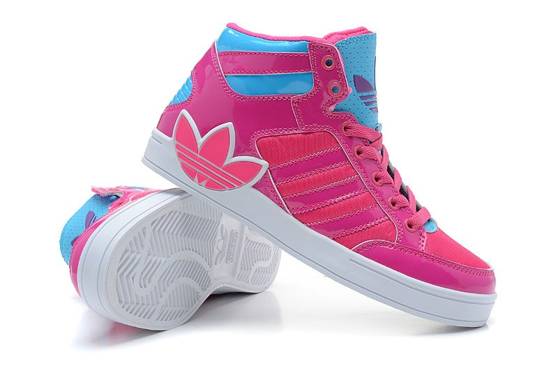 New Arrived Adidas 2014 IV Forth Women Pink Blue Running Shoes
