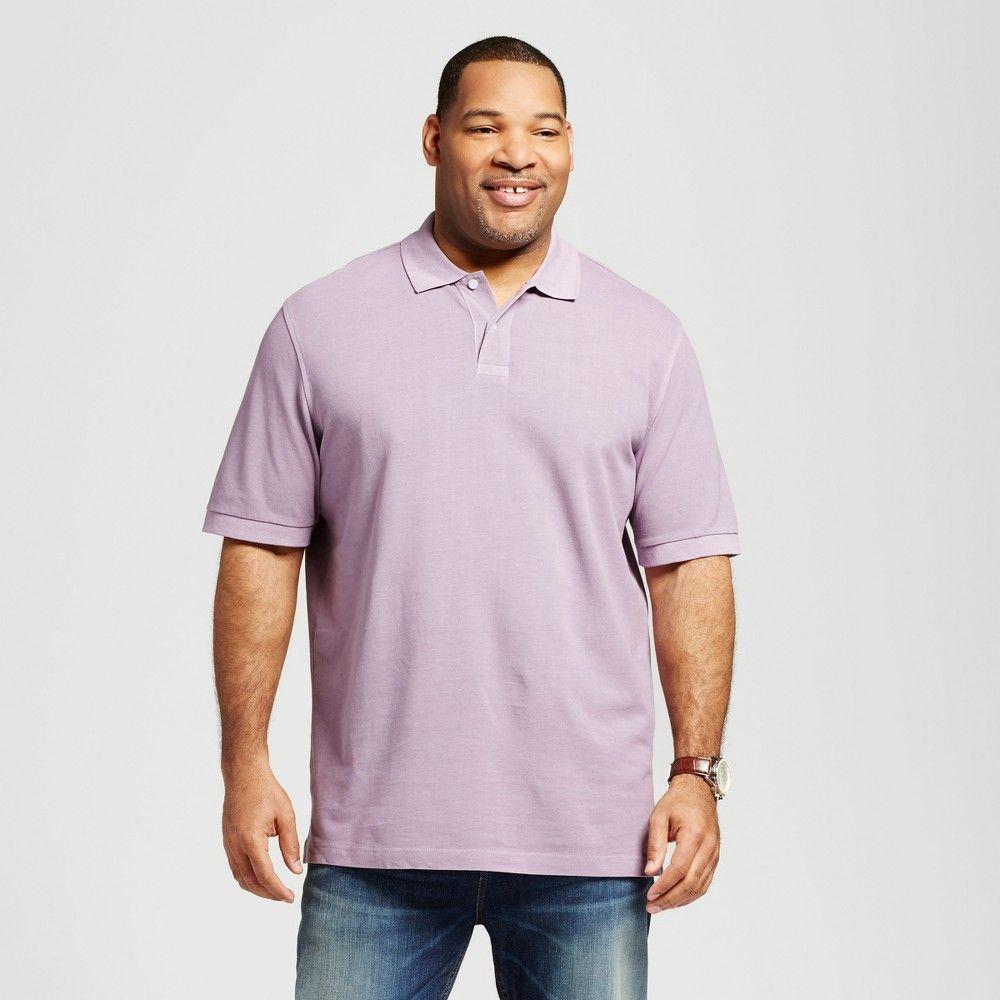 Men's Big & Tall Polo Purple 2XB - Merona, Shirts & Tops
