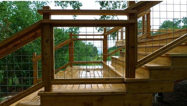 Goat Wire Fence Deck Railing Idea | Railing | Pinterest | Railing ...