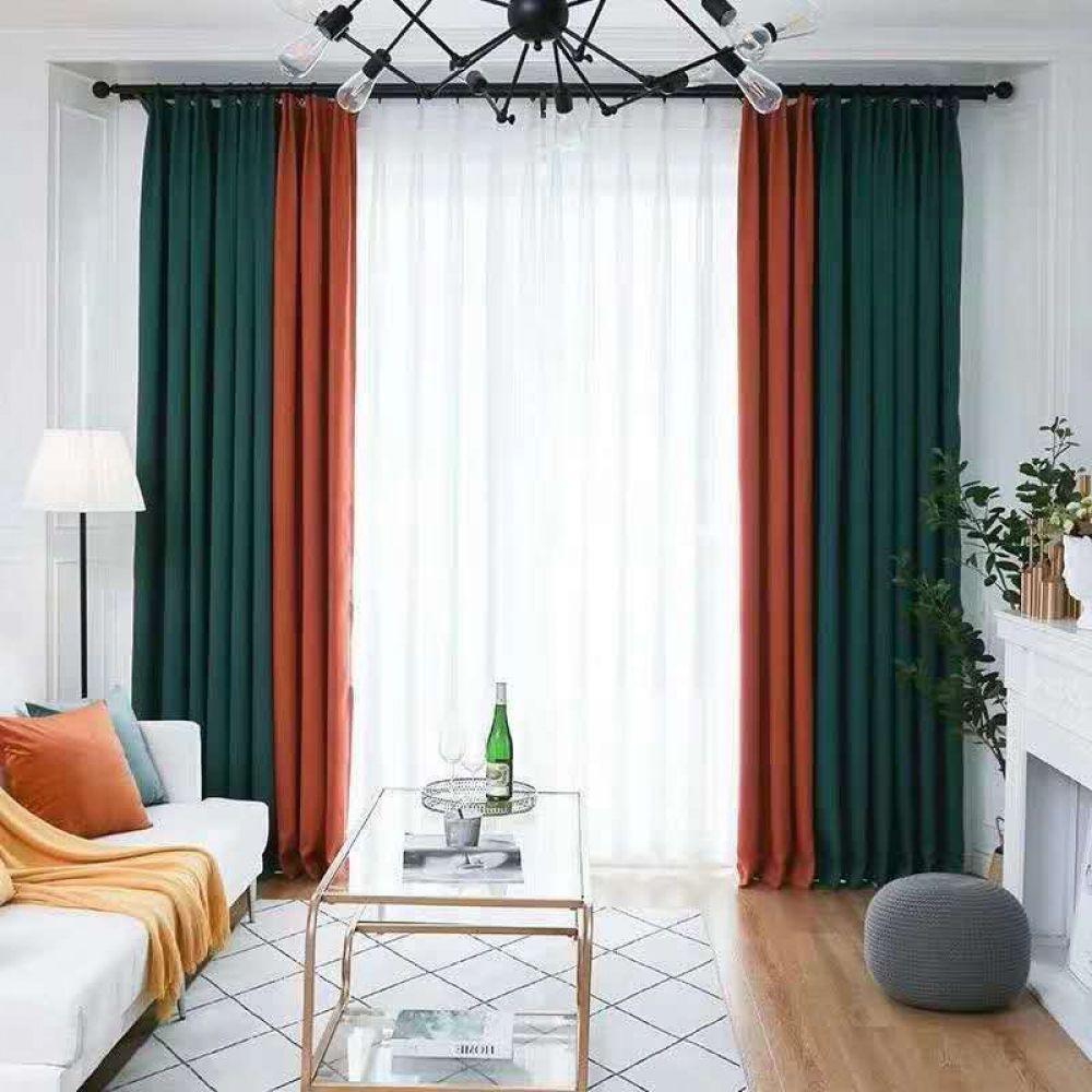 splicing blackout window curtains drape
