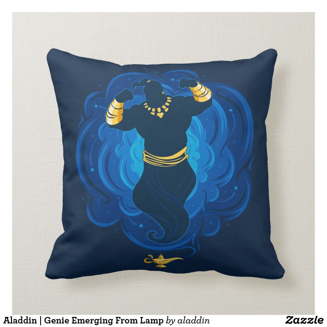 Aladdin Genie Emerging From Lamp Throw Pillow Zazzle