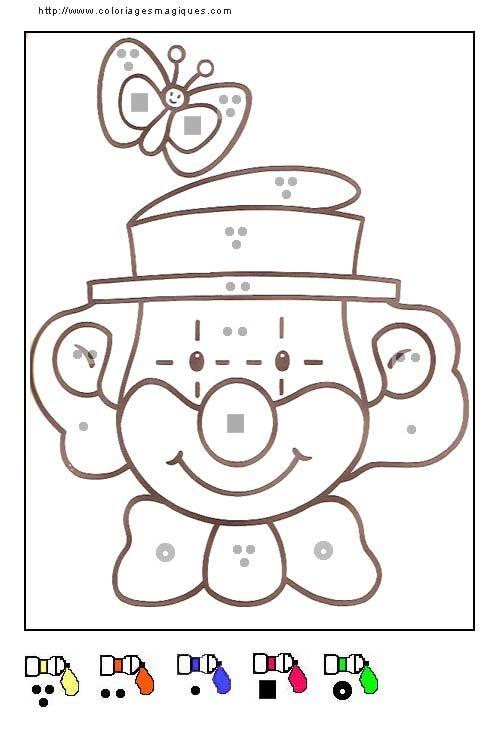 Coloriages magiques clown coloriages pinterest - Coloriage magique ps maternelle ...