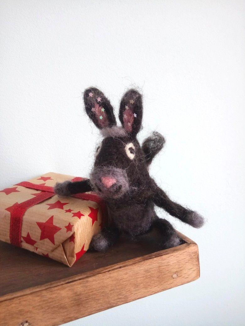 Black donkey gift idea for Christmas. Made by Troha