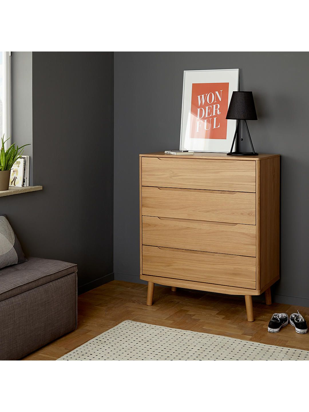 Best House By John Lewis Bow 4 Drawer Chest White Chest Of 640 x 480