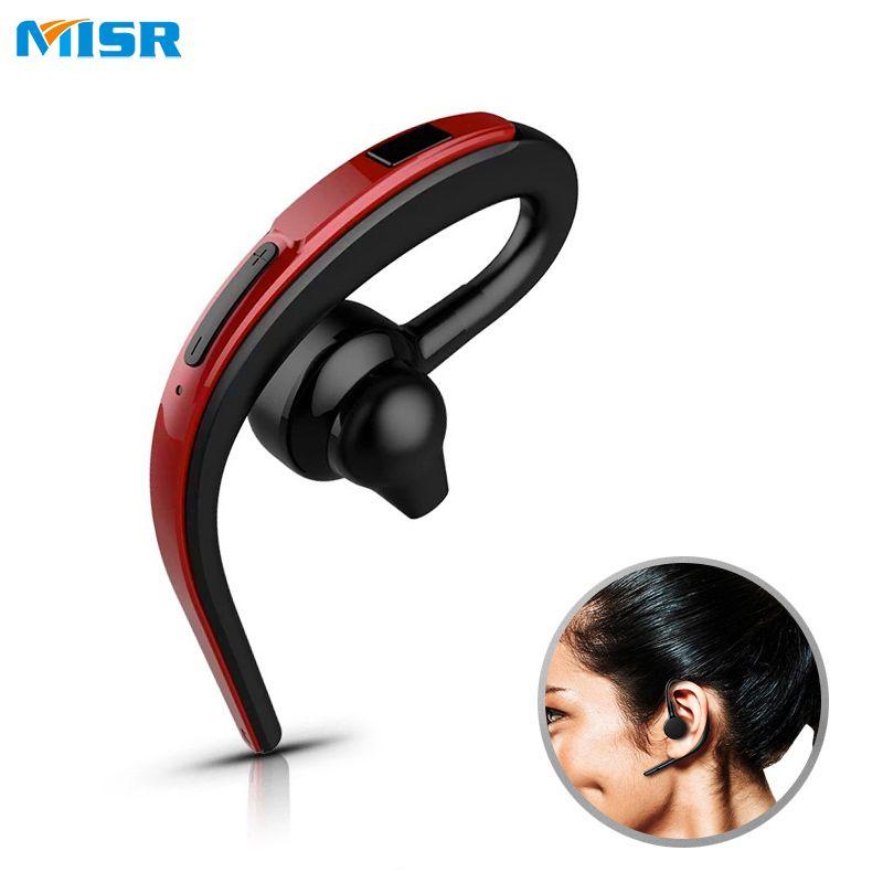 Misr Sw26 Single Ear Hook Bluetooth Earphone Headphone Handsfree Mic Microphone For Phone Car Driver Wireless Business Headset Compras Cosas Para Comprar