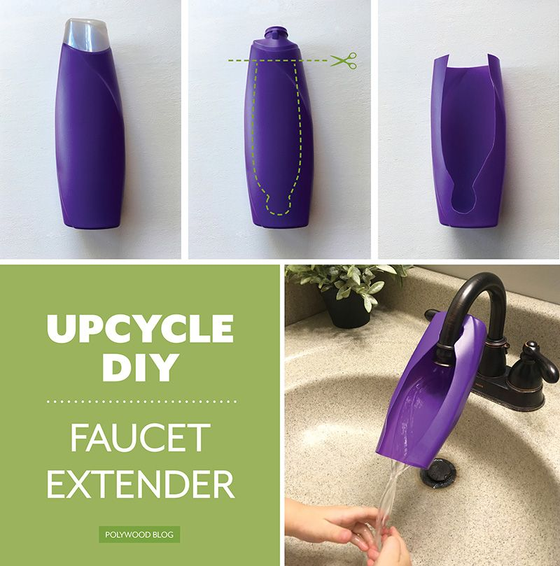 5 Ways To Upcycle Plastic Containers Upcycle Plastic Faucet