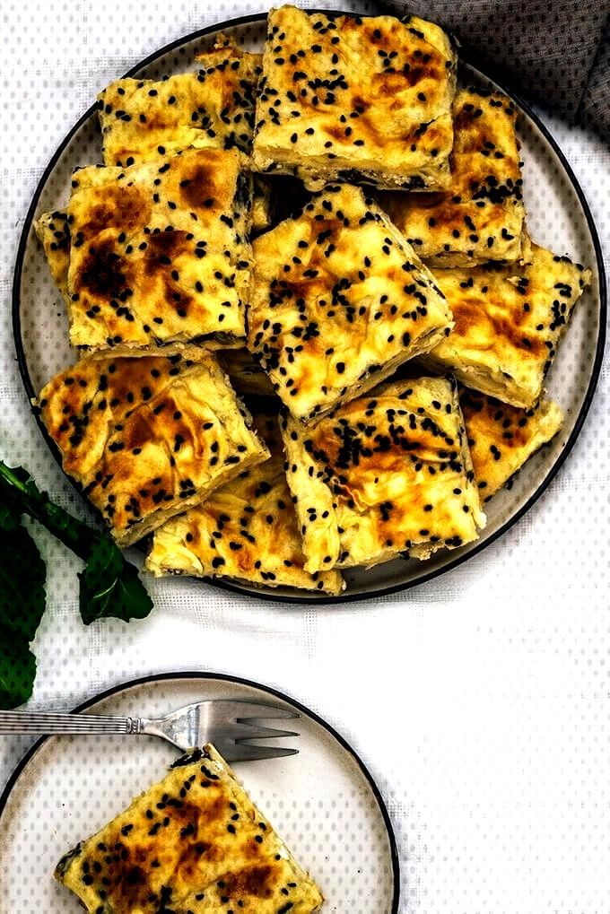 Turkish Borek Recipe with Cheese and Herbs - Meat Pies -You can find Pies and more on our website.