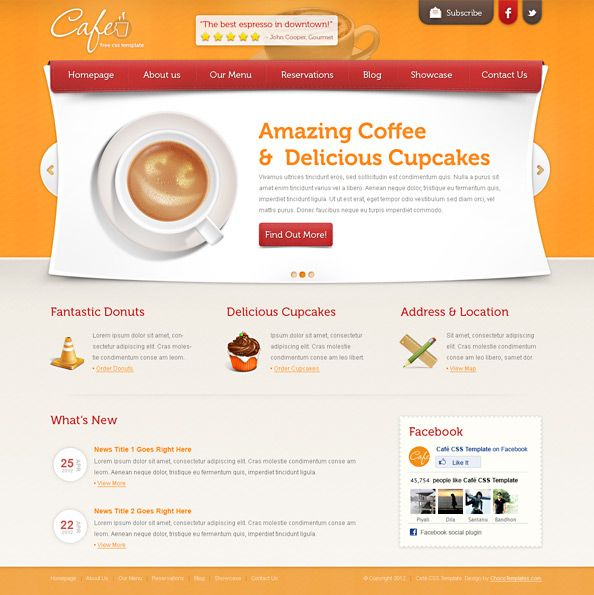 Free Css Template For Restaurants Free Css Templates Css Templates Templates Web Design Tutorials