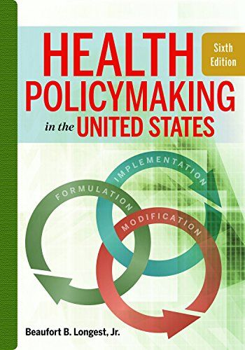 1567937195 Health Policymaking In The United States Sixth Edition Pdf Books Reading Online Ebook