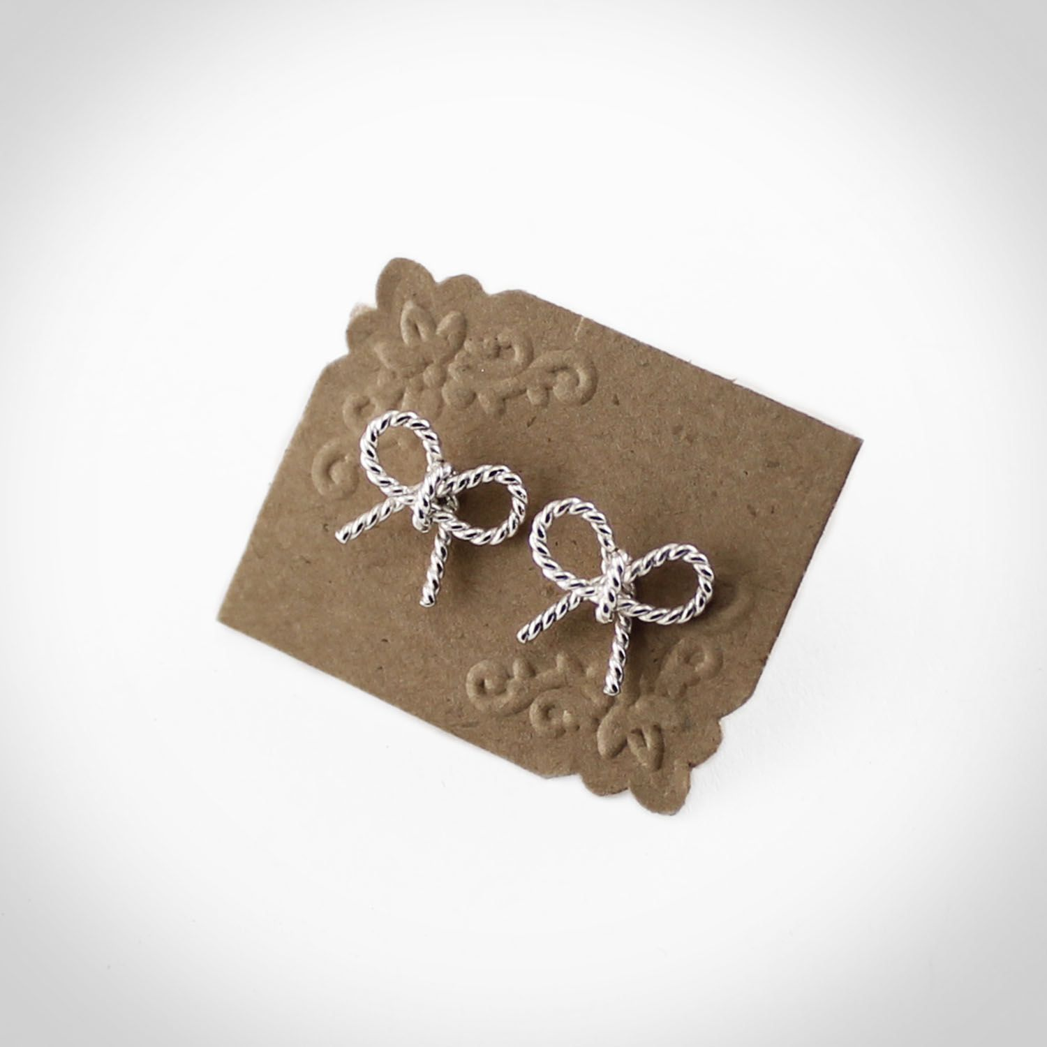 Rope-Style Bow Earrings - GOLD - Twisted Goods