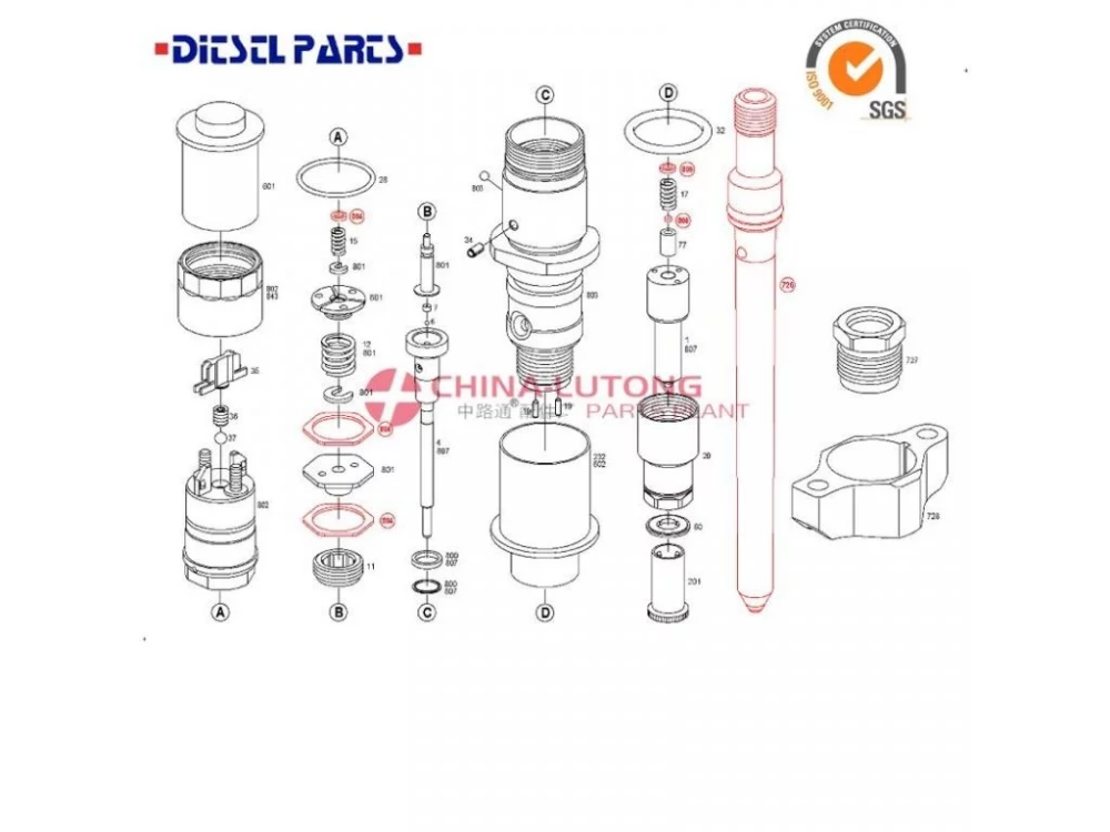 Engine Parts High Performance Bosch Cr Injector Fuel Common