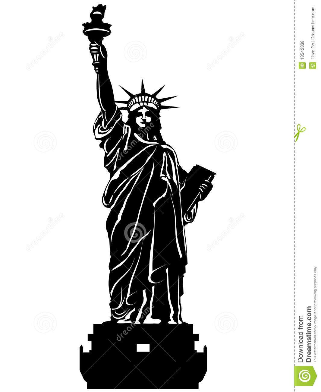 Statue Of Liberty In Black And White