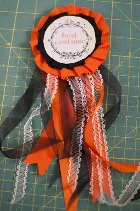 halloween costume prize ribbon template make your own prize