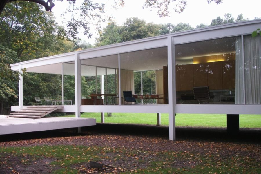 the glass house mies van der rohe 39 s farnsworth house. Black Bedroom Furniture Sets. Home Design Ideas