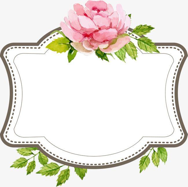 Wedding Flower Borders: Beautiful Wedding Text Border, Hand Painted Flowers, Marry