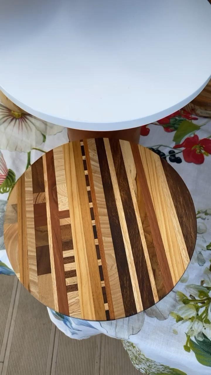 Wooden cake pedestal -   16 rustic desserts Plating ideas