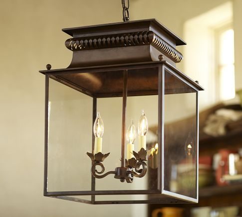 Pottery barn lighting & This Bolton Lantern hangs over my huge formal dining room table ... azcodes.com