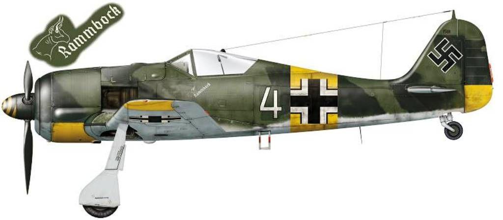 Focke-Wulf Fw 190 A-5; W.Nr. 0150 1501, 'White 4', flown by Oblt. Walter Nowotny, Staffelkapitän of 1./JG 54, Russia, summer 1943