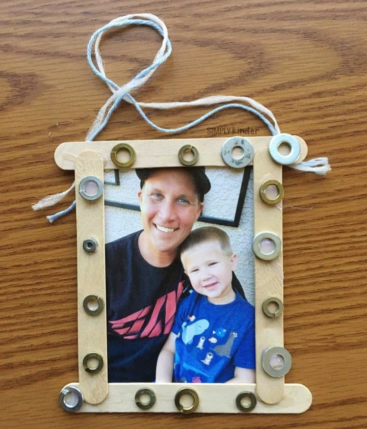 Photo of Washer Frame for Father's Day – Simply Kinder