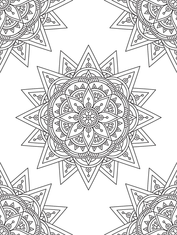 Mindfulness Mandalas Nº1 | Mandala malvorlagen, Ausmalen und Geometrie