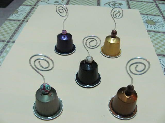 Capsulas Recicladas Pour Etiquettes De Table Com Imagens