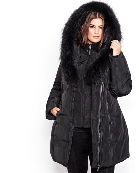 9b7c43024b3 Here is a warm plus size winter coat from Ookpik that ll protect you from  bad weather. Filled wiith down to protect against the cold