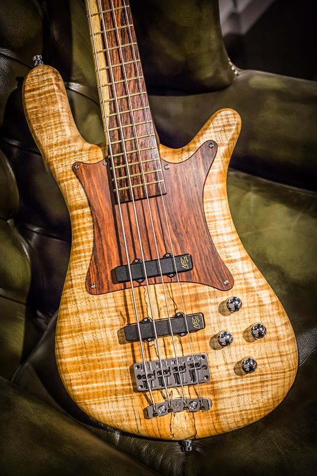 Warwick  Streamer LX 4 Cocobolo Matched Headstock and fingerboard AAA Colored Flamed Maple body with wooden Cocobolo pickguard
