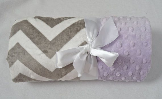 Monogrammed Chevron Baby Blanket  Minky Gray and by MoonbeamMinky, $30.00