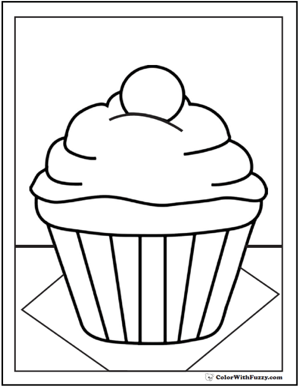 40 Cupcake Coloring Pages Customize Pdf Printables Cupcake Coloring Pages Cupcake Template Coloring Pages