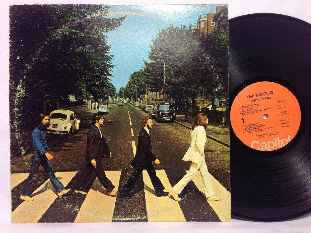 The Beatles Abbey Road Lp Vinyl Record Album Orange