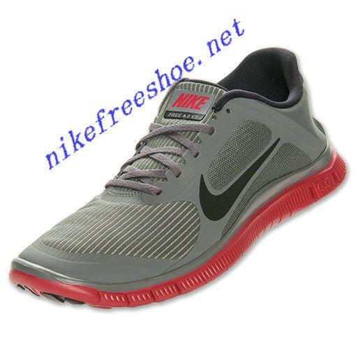 reputable site 2a88f 5009a Nike Free 4.0 V3 Mens Mercury Grey Gym Red 579958 006 | Nike ...