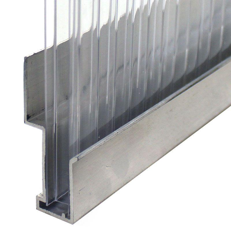 Aluminum U End Cap Plastic Sheets Polycarbonate Panels