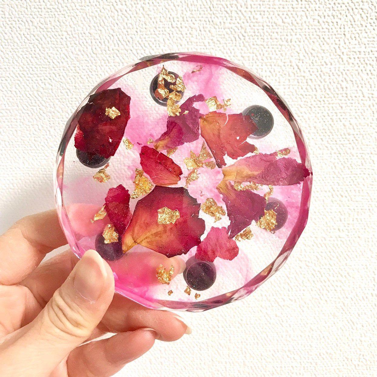 jewelry dish key dish trinket tray or organizer Real dried flower trinket dish