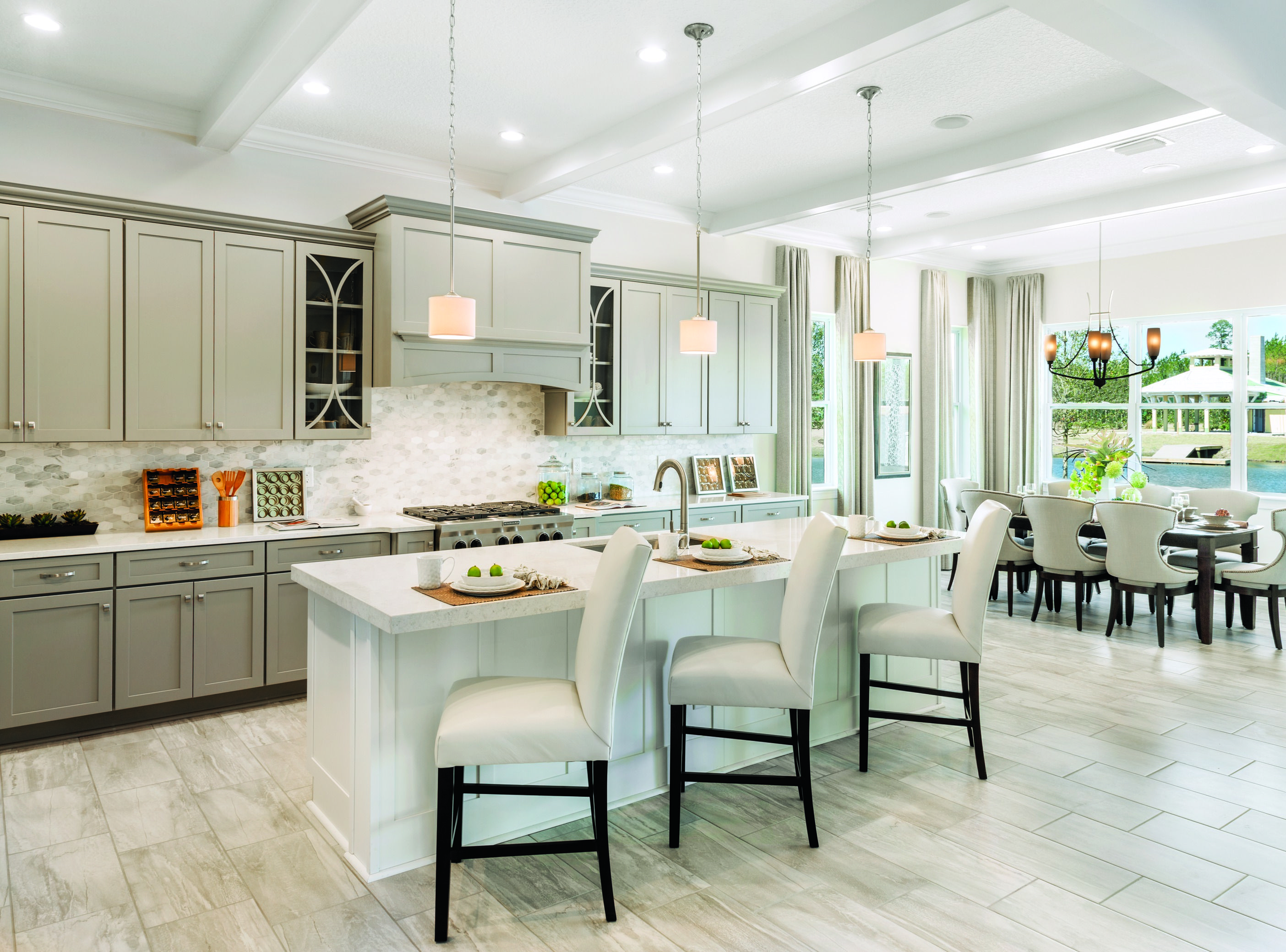 Impress Guests With This Exquisite Kitchen Accented By Neutral