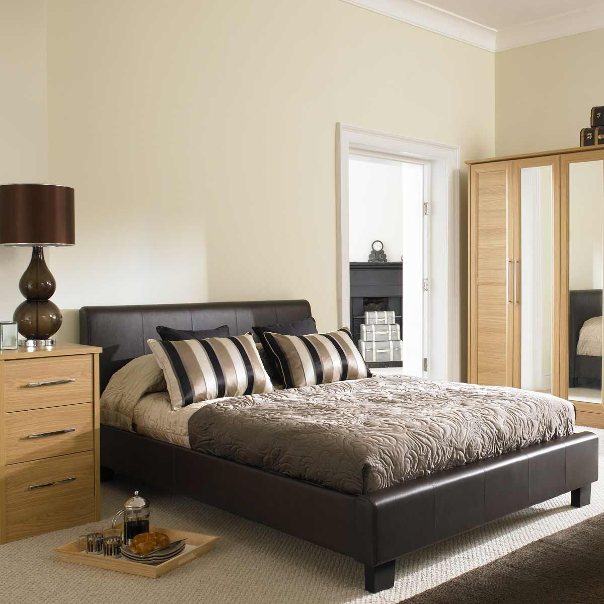 Danish Home Design Ideas: Bedroom,Smart Smooth Leather Bed Frame Design Inspiration